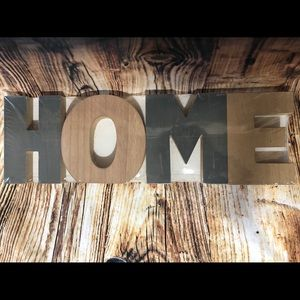 Wall Art - Large HOME wooden decor letters wall hanging
